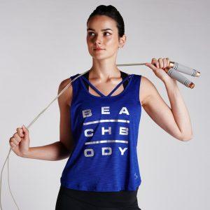 Women's Performance Energy Mesh Strap Tank Lagoon