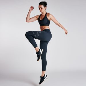 Women's Sportstyle Fusion Wave 7/8 Tight Black Heather