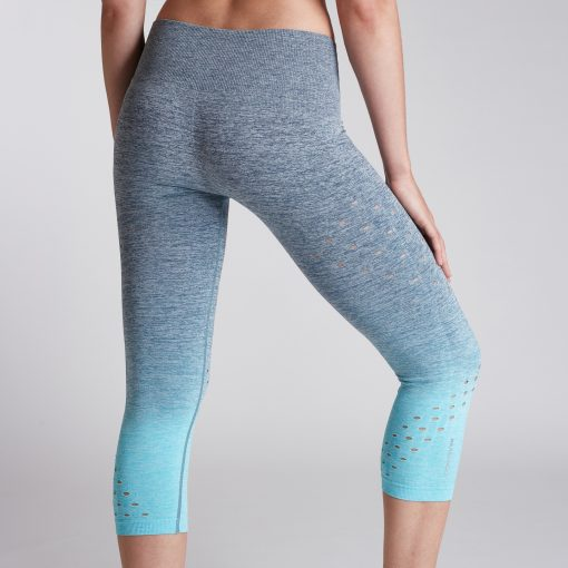 Women's Performance Ombre Crop High Rise Tealy