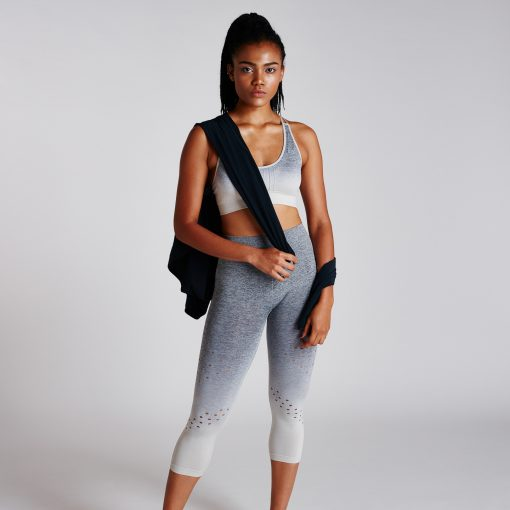 Women's Performance Ombre Crop High Rise Pewter