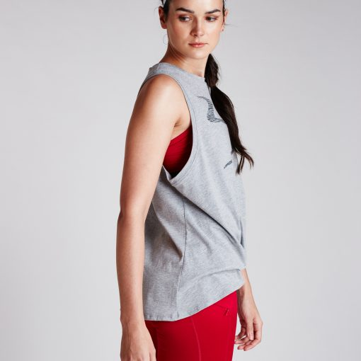 Women's Performance Twist Tank Grey Heather